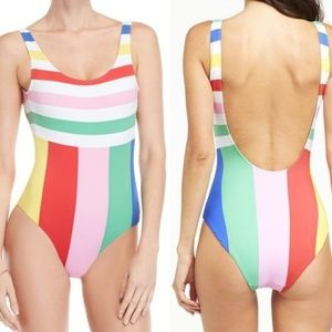 Anthropologie Onia stripped one piece swimsuit XL